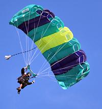 Parachute/skydiver