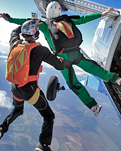 Skydiver Training Program jump