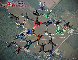 Skydivers Over Sixty 21-person Texas State Record, May 5, 2014