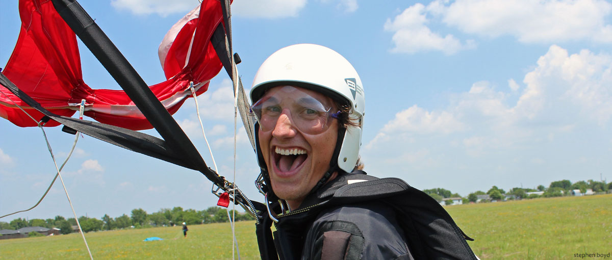 Slider Skydiver Training Program smile