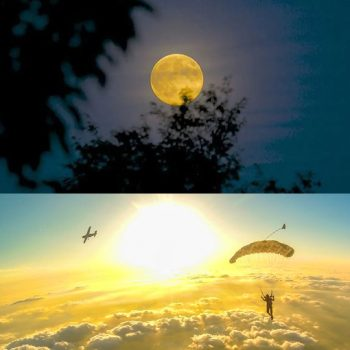 Night to sunrise jumps
